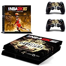 PS4 NBA 2K16 - Michael Jordan Waterproof Vinyl Skin Decal Cover for Playstation 4 System Console and Controllers