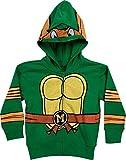 Toddler Boys Teenage Mutant Ninja Turtles Michaelangelo Masked Hoodie - 4T