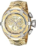 Invicta Men's 'Bolt' Swiss Quartz Stainless Steel Casual Watch, Color:Gold-Toned (Model: 21345)