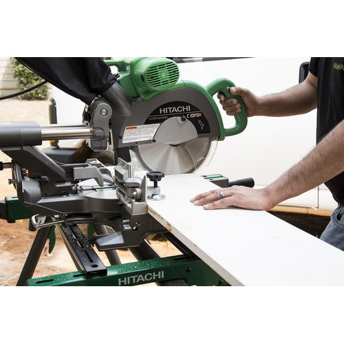 Hitachi C10FSHPS 12-Amp 10-Inch Sliding Dual Compound Miter Saw with Laser Marker