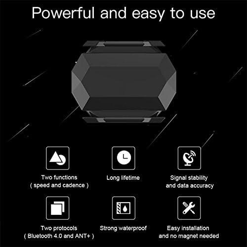 Broadroot Bluetooth 4.0 Ant Sensore di Cadenza della velocit/à Compatibile con Garmin Bryton Bike Computer