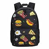 Backpack Doinshop Retro Harajuku Canvas Comfortable Burger Print Review and Comparison