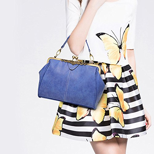 Colorful(TM) Damen Handtasche Elegant Taschen Shopper Reissverschluss Frauen Handtaschen (GN) BU BIDKljMB