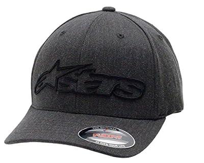 Alpinestars Men's Curved Bill Structured Crown Flex Back 3D Embroidered Logo Flexfit Hat from Alpinestars Young Men's