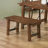 Coaster Home Furnishings Country Bench, Rustic Oak