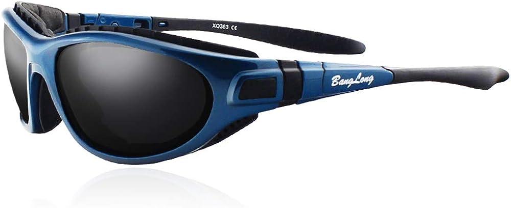 BangLong Gafas deportivas polarizadas con protección UV400, gafas de ciclismo, mujeres, hombres, para deportes al aire libre, anticolisión, antivaho, ciclismo, motociclismo