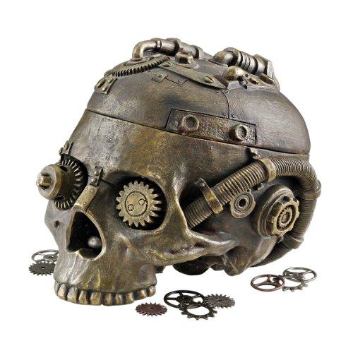Classic Gothic Steampunk Head Statue Jewelry Treasure Box/gift Item