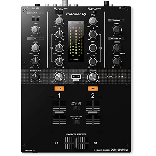 Pioneer DJ Electric Guitar Single Effect, Black (DJM250MK2)