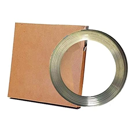 3//8 Width X 0.025 Thick BAND-IT C20399 201 Stainless Steel Bright Annealed Finish Band 100 Feet Roll 3//8 Width X 0.025 Thick