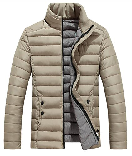 Down Jacket today Khaki Packable Stand Lightweight Men's Collar UK xqCw4Uqf