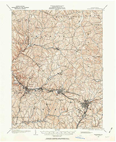 g PA topo map, 1:62500 Scale, 15 X 15 Minute, Historical, 1904, Updated 1963, 20.9 x 17.1 in - Paper ()