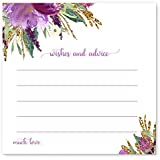 Purple Floral Advice and Wishes Game Card Pack of 25