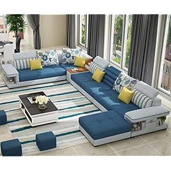 Amazon.com: My Aashis - Sofá modular de lujo con forma de U ...