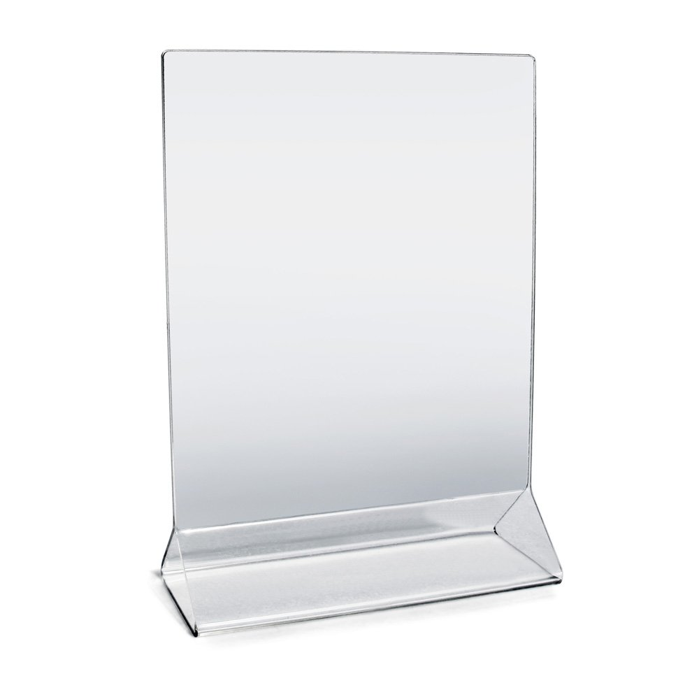 New Star Foodservice 23008 Acrylic Table Menu Card Holder, 5 by 7-Inch, Clear, Set of 12