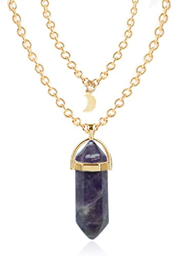 Chakra Healing crystal gemstones Gold necklace