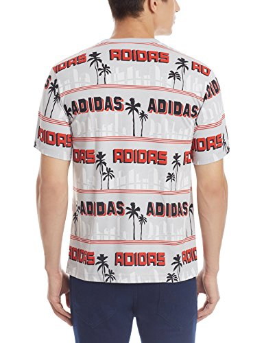 Adidas La Palm Tee - lgsogr/lusred, Größe:L
