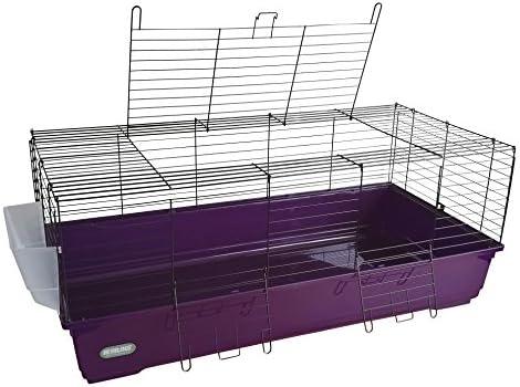 Jaula para conejos y cobayos de 120 cm con interior extragrande ...