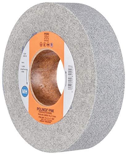 PFERD 48218 POLINOX PNK Non-Woven Abrasive Convolute Wheel Fine Grit 8 Diameter x 2 Width 3 Arbor Hole PFERD Inc. Silicon Carbide 8 Diameter x 2 Width 3850 Maximum RPM 3 Arbor Hole
