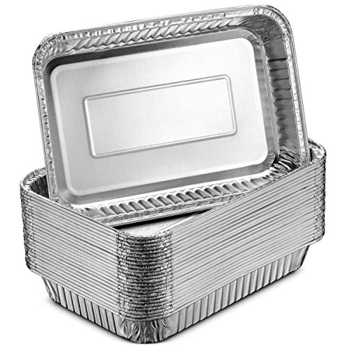 Dynasty Foils - Aluminum Foil Grill Drip Pans - Bulk Pack of Durable Grill Trays - Disposable BBQ Grease Pans - Compatible with Weber Grills - Made in The USA - Also Great for Baking, Roasting & Cooking (Pack of 25)