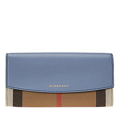 d4497df1f8fd Amazon.com  Burberry House Check Sartorial Leather Wallet- Slate Blue  Shoes