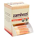 Case of Beeswax Lip Balm by ZAMBEEZI – Tangerine 24-Tube Carton – Crafted with USDA Certified Organic, Fair Trade, Lip Refreshing Ingredients from Zambia, Africa Review