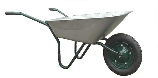 Carretilla de jardín Edilizia 70 litros bañera galvanizada con rueda neumática: Amazon.es: Industria, empresas y ciencia