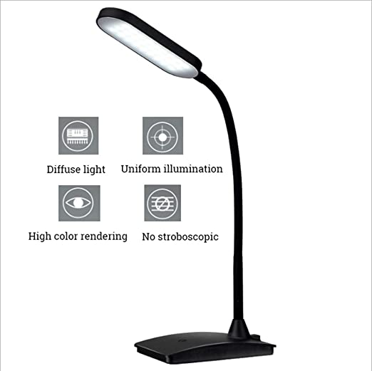 LED Lámpara de Escritorio con Panel Táctil y 3 Niveles de ...