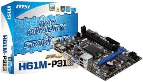MSI H61M-P31 (G3) - Socket 1155 - Chipset H61: Amazon.es: Electrónica