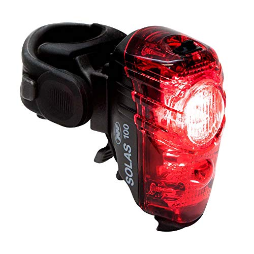 Cycling Tail Light - NiteRider Solas 100 Lumens USB Rechargeable Bike Tail Light Powerful Daylight Visible Bicycle LED Rear Light Easy to Install Road Mountain City Commuting Adventure Cycling Safety Flash