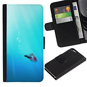 All Phone Most Case / Oferta Especial Cáscara Funda de cuero Monedero Cubierta de proteccion Caso / Wallet Case for Apple Iphone 5 / 5S // Cute Neon Coral Fish
