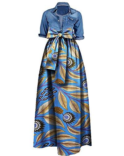 light blue plus size maxi dress - 3