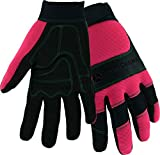 West Chester John Deere JD90015 Hi-Dexterity Gloves – Medium-Large, All Purpose Synthetic Leather, Spandex Back, Hook and Loop Wrist, Wing Thumb Style