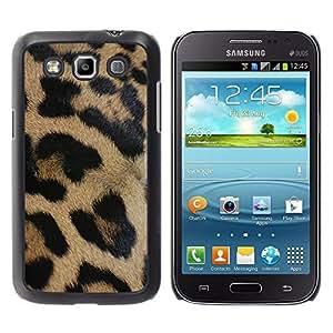 TaiTech / Hard Protective Case Cover - Brown Fur Pattern Black - Samsung Galaxy Win I8550 I8552 Grand Quattro