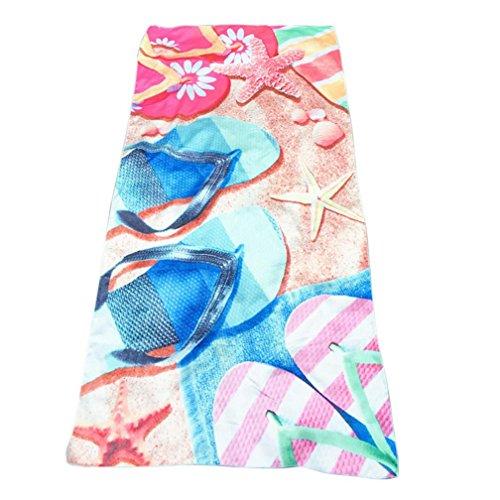 (Aitena Abstract Painting Sea Side Starfish Slippers Rectangular Beach Towel Wallpaper 70 × 147cm (Blue))