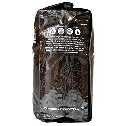 Fresh Roasted Coffee LLC, Black Knight Organic Coffee, Dark Roast, Fair Trade, USDA Organic, Whole Bean, 5 Pound Bag by Fresh Roasted Coffee (Image #4)