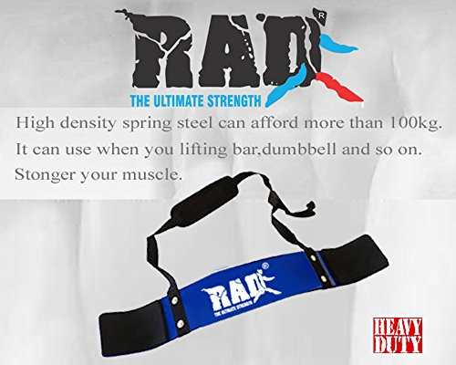 RAD Arm Blaster Body Building Bomber Bicep Curl Triceps Muscle Builder Blue New