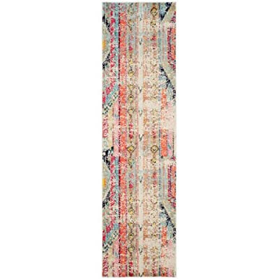 Safavieh Monaco Collection MNC222D Modern Bohemian Magenta Pink Distressed Area Rug -  - runner-rugs, entryway-furniture-decor, entryway-laundry-room - 51pnEXeuWZL. SS400  -