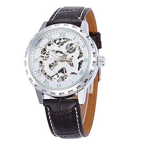 Accesorios Hombre Hombre Plata Reloj mecánico Modelo boda regalo ...