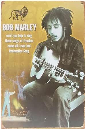 Bob Marley, Metal Tin Sign, adorno de pared de estilo vintage café ...