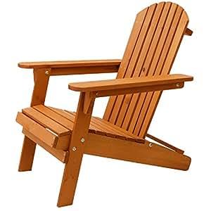 Oypla silla plegable de madera adirondack para jard n al for Jardin al aire libre de madera deco