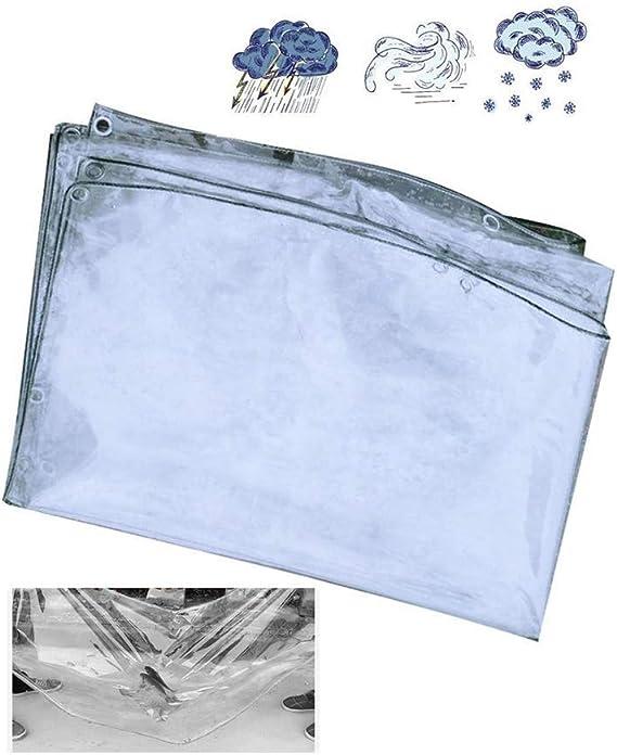 BH Lona Impermeable Transparente A Prueba de Polvo Cubierta de pérgola Cortina Impermeable de PVC Espesada para automóvil, 22 tamaños, Personalizable (Color: Transparente, Tamaño: 1.4x3m): Amazon.es: Hogar