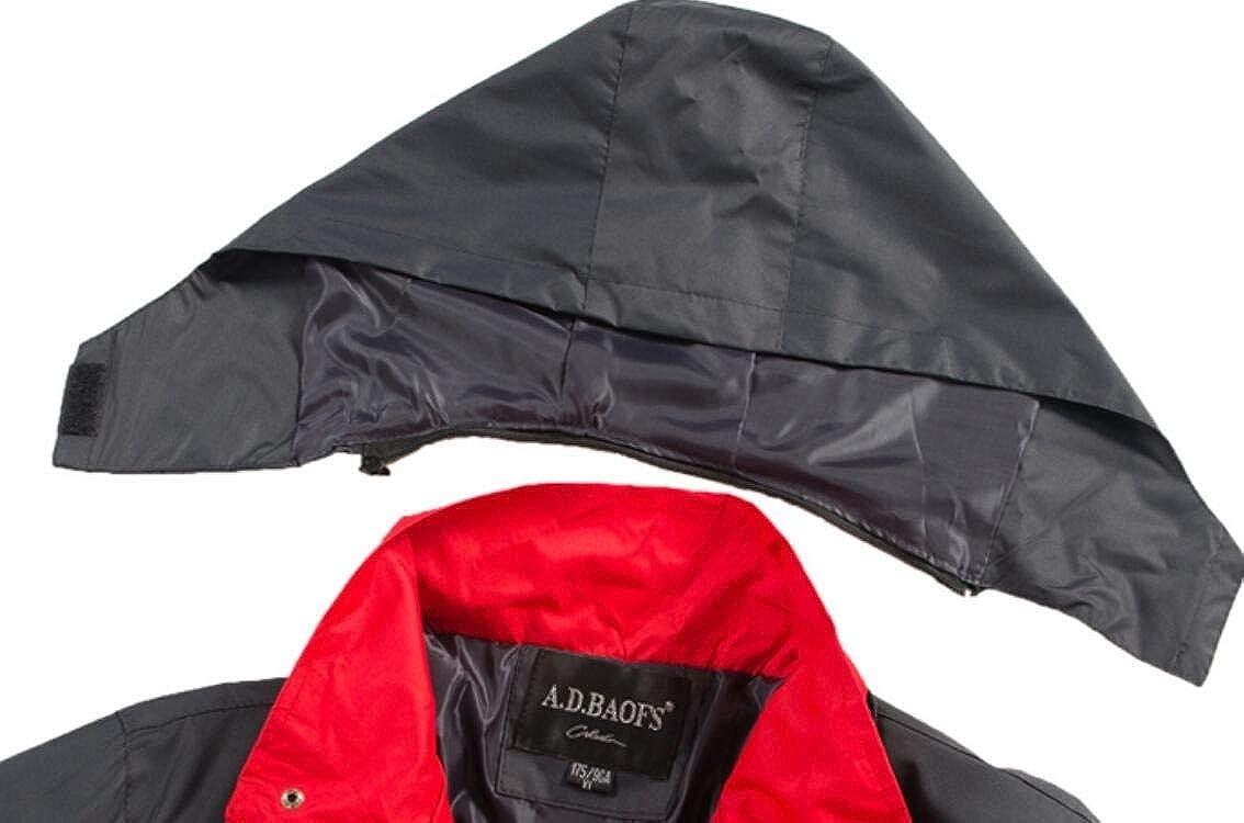 Domple Mens Stylish Mountain Waterproof Lightweight Hooded Windproof Jacket