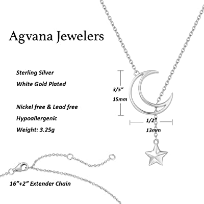 3D Star Love Circle 925 Silver Necklace Chain Jewelry Birthday Gifts for Women