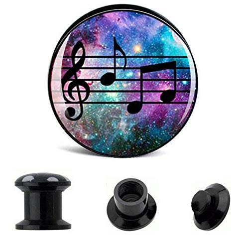 - Ear Gauge Plugs Notation Acrylic Screw Fit Flesh Tunnel Eyelet Body Piercing Jewelry 6Mm 25Mm Aw40227,Pack 2