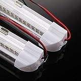 UEB 2X 72 LED Interior Light Strip Bar Car Van Bus Caravan ON/OFF Switch 12V