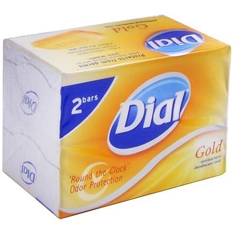Gold Antibacterial Deodorant Bar Soap, 2.25 oz, 2 count - Dial (Dial Bar Gold)