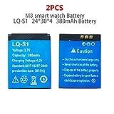 2 pcs M3 Smart Watch Battery LQ - S1 Smart Phone