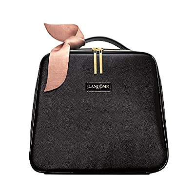 NEW! Lancome Black LARGE Train Case Makeup Cosmetic Bag