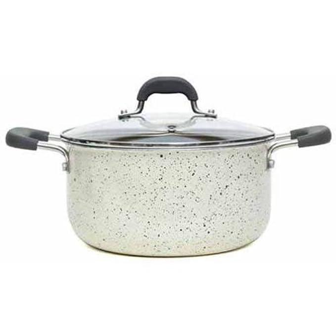 Amazon.com: The Pioneer Woman Vintage Speckle 10-Piece Non-Stick Pre-Seasoned Cookware Set (Linen): Home & Kitchen