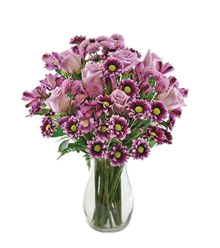 Purple Passion Bouquet with Vase